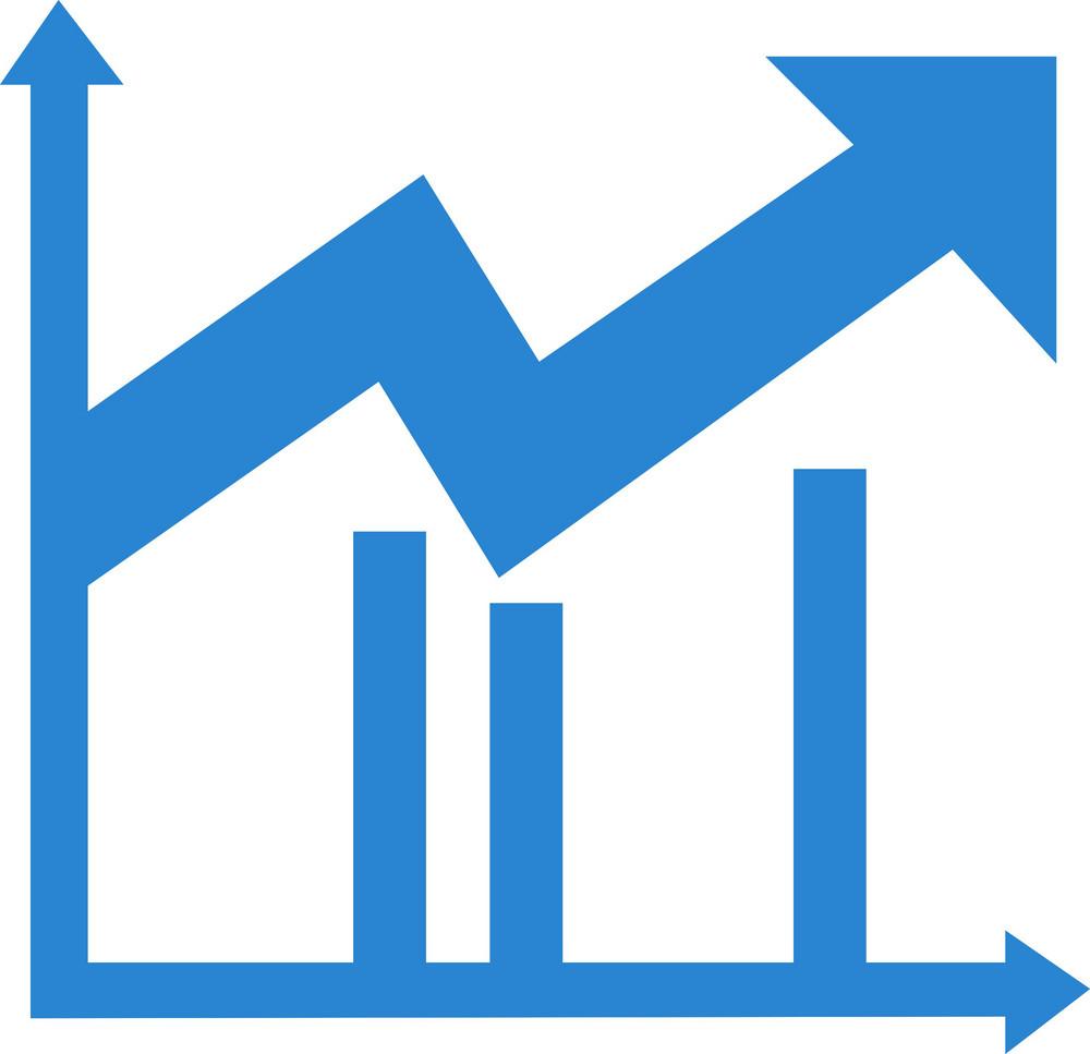 Upward Trend Chart Simplicity Icon
