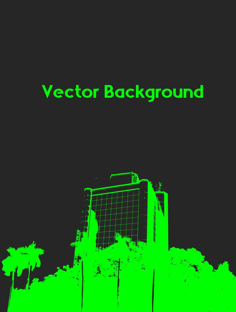 Urban Building Background Banner