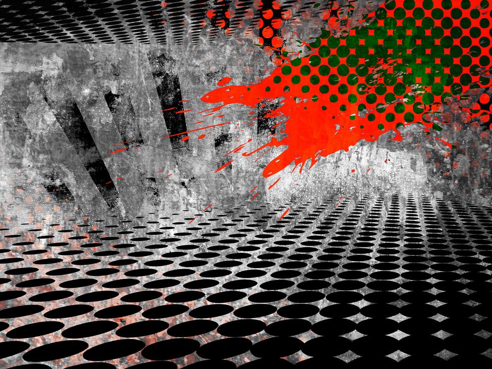 Urban Grunge Halftone Background