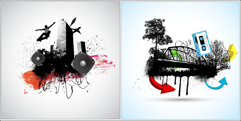 Urban Vector Backgrounds