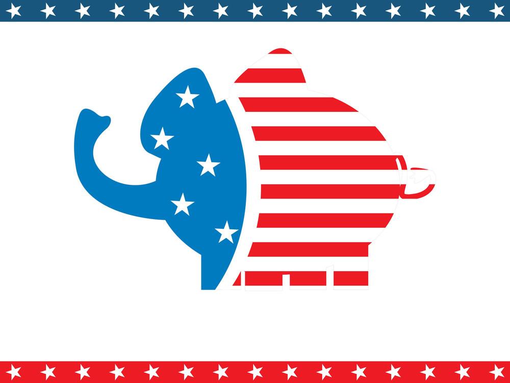 Us Background With Elephant
