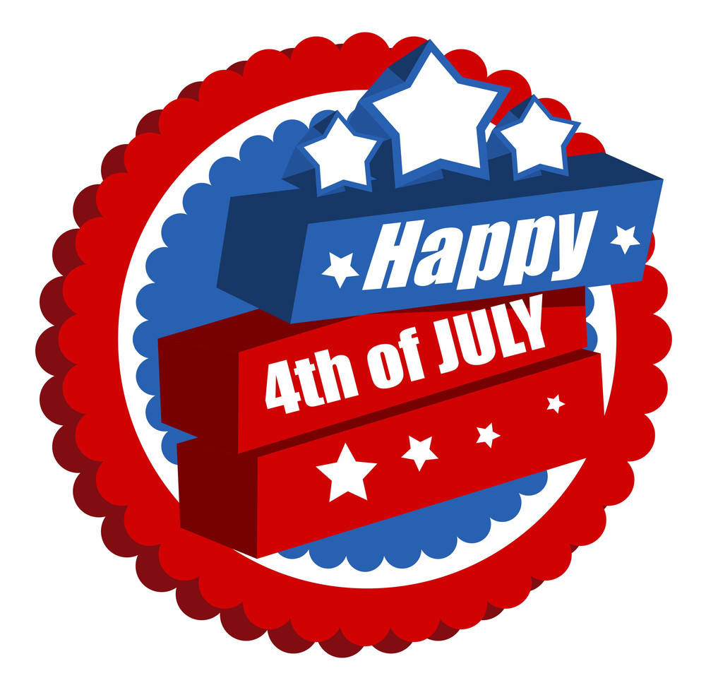 Us Independence Day Design Vector