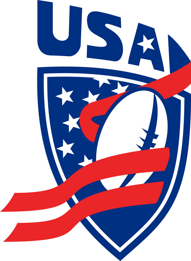 Usa American Rugby Ball Shield