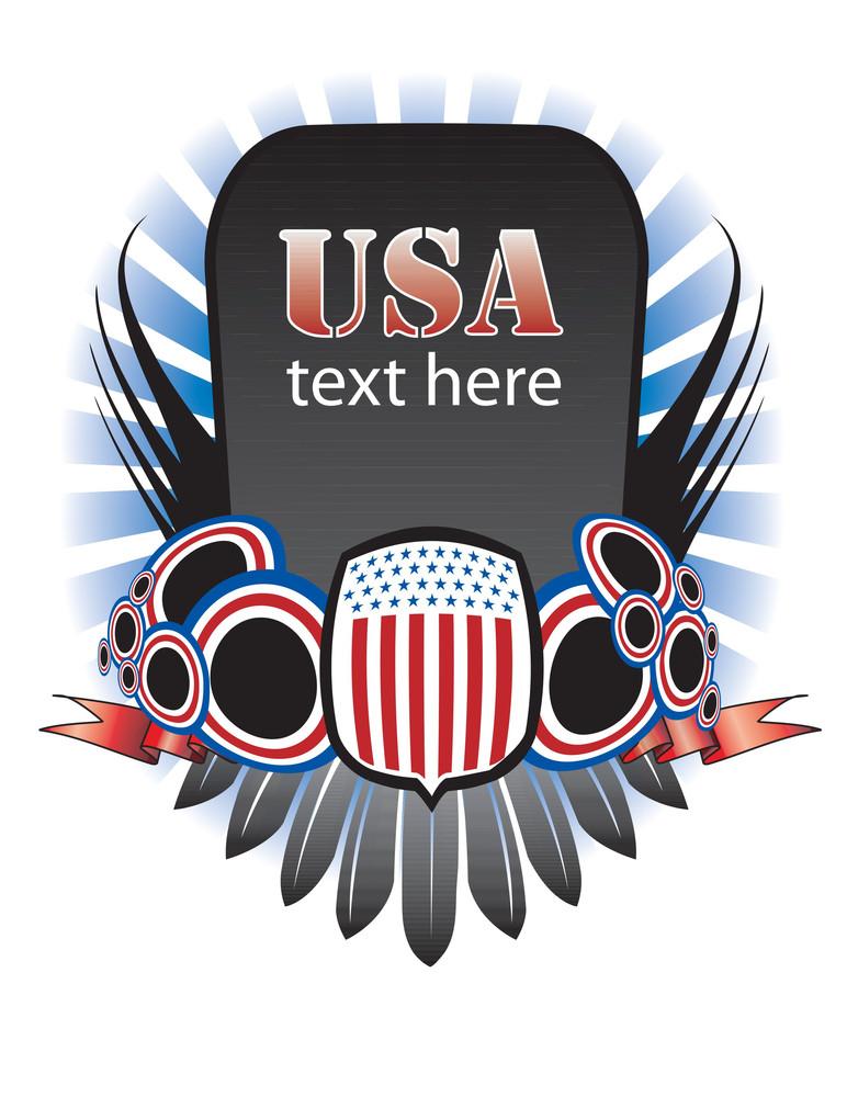 Usa Banner - July 4 Design