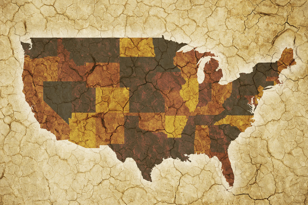 Usa Drought Background