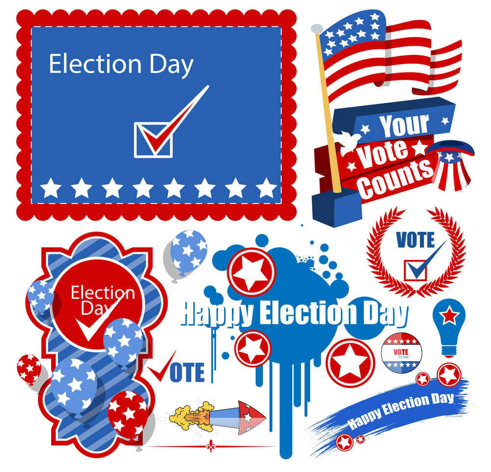 Usa Election Day Graphics Set