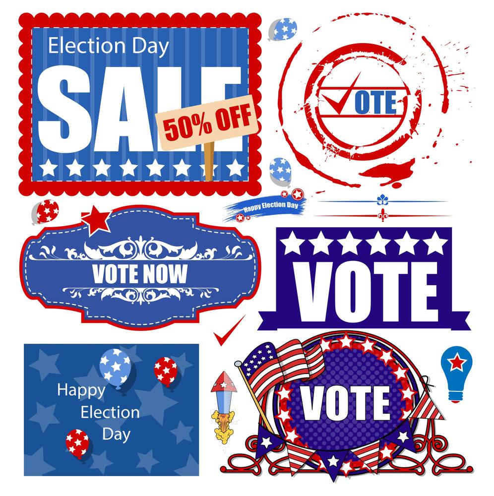 Usa Election Day Sale Graphics Vector Set