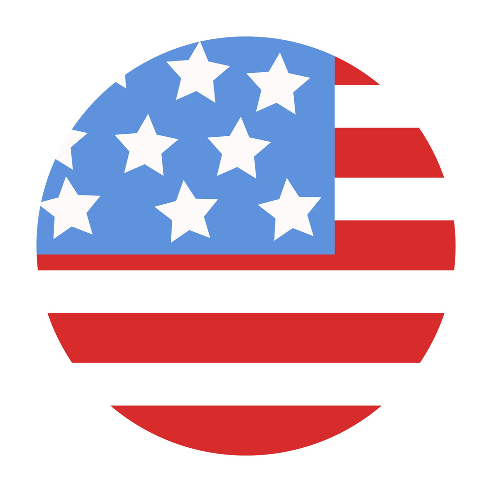 Usa Flag Design In Circle Vector Illustration