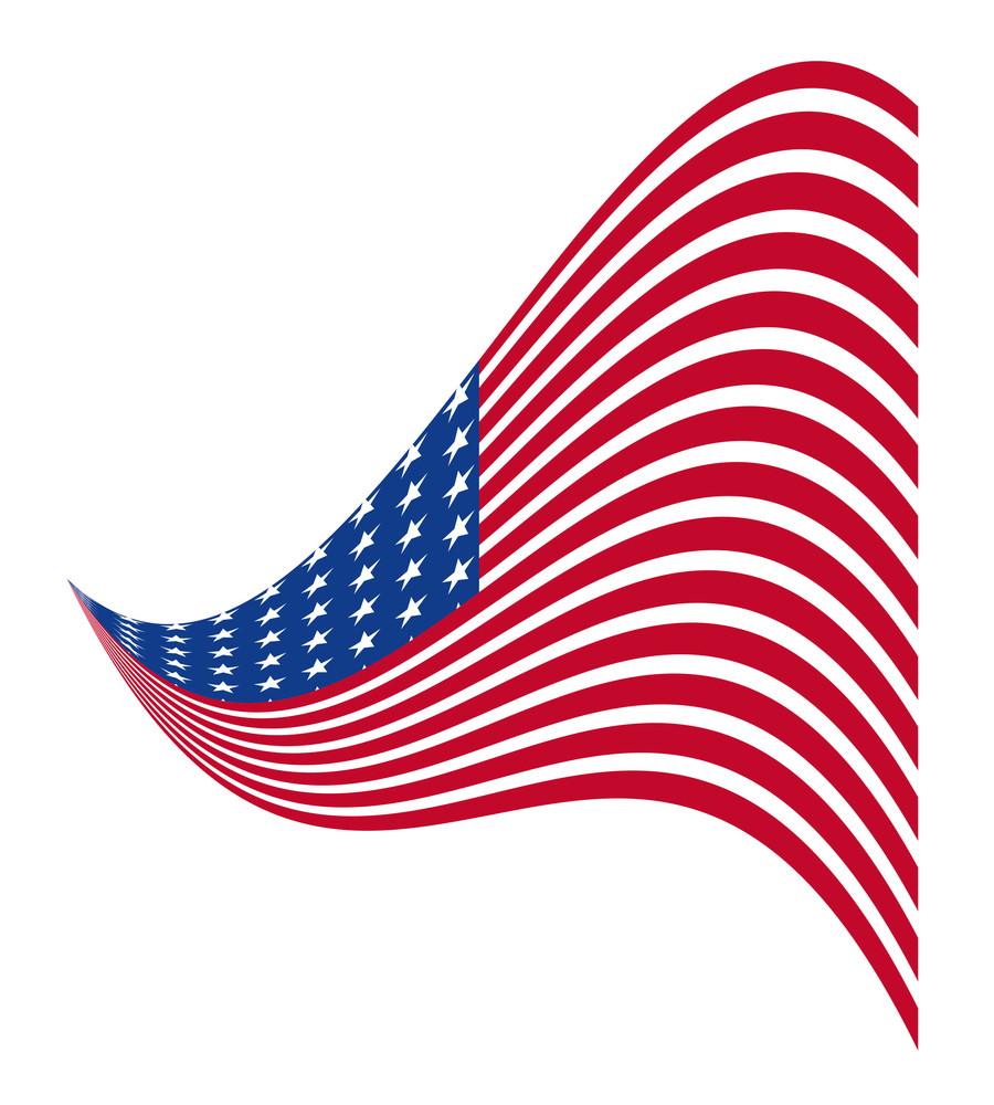 Usa Flag Wavy Design