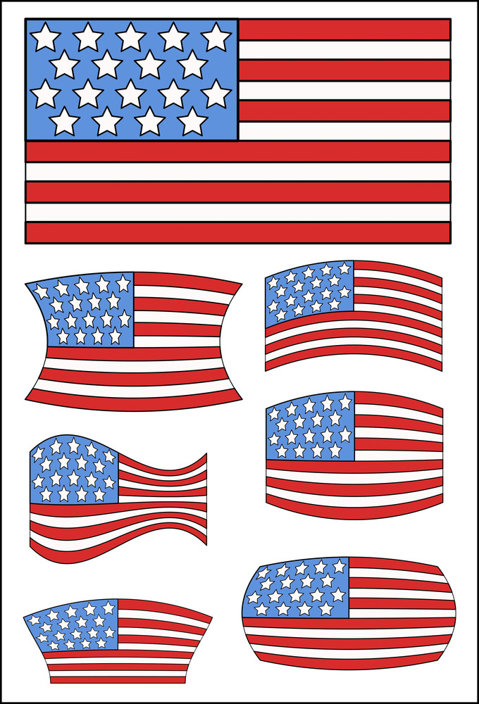 Usa Flags Designs  Constitution Day Vector Illustration
