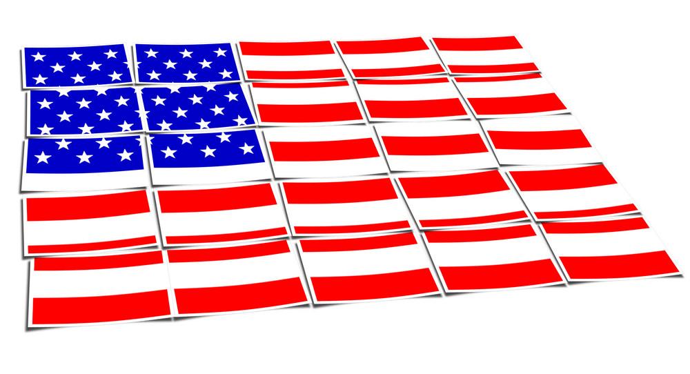 Usa Layered Flag