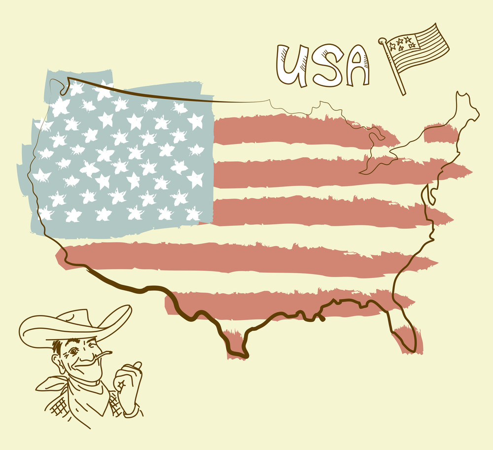 Usa Map With Us Flag RoyaltyFree Stock Image Storyblocks - Map of us stock