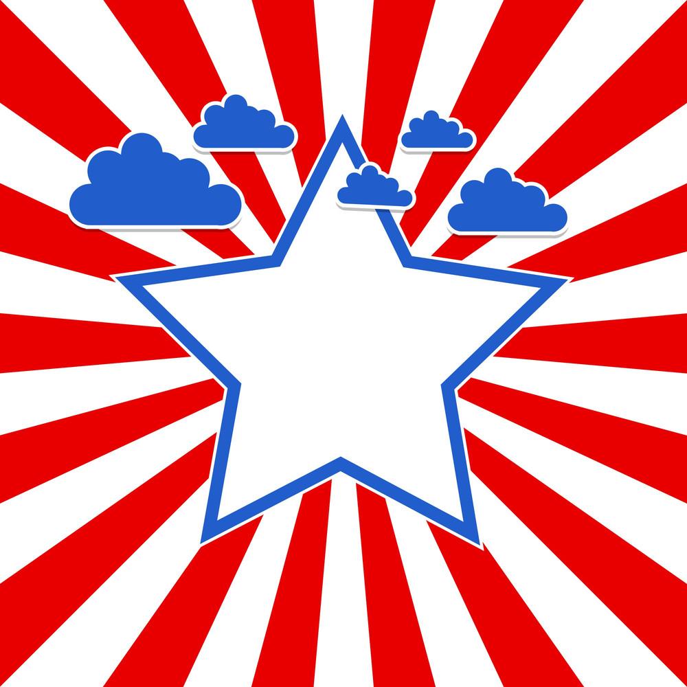 Usa Patriotic Theme Background Vector