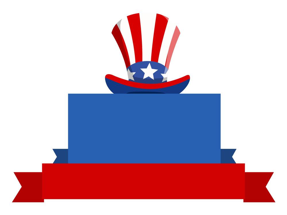 Usa Patriotic Theme Blank Banner Design Vector