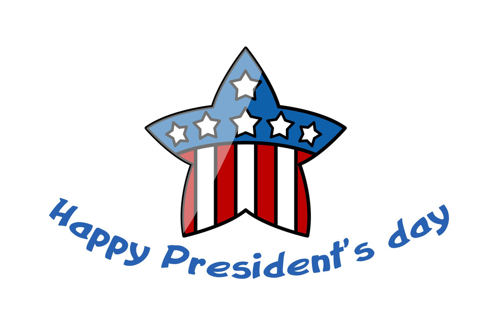 Usa Patriotic Theme Star Presidents Day Vector Illustration