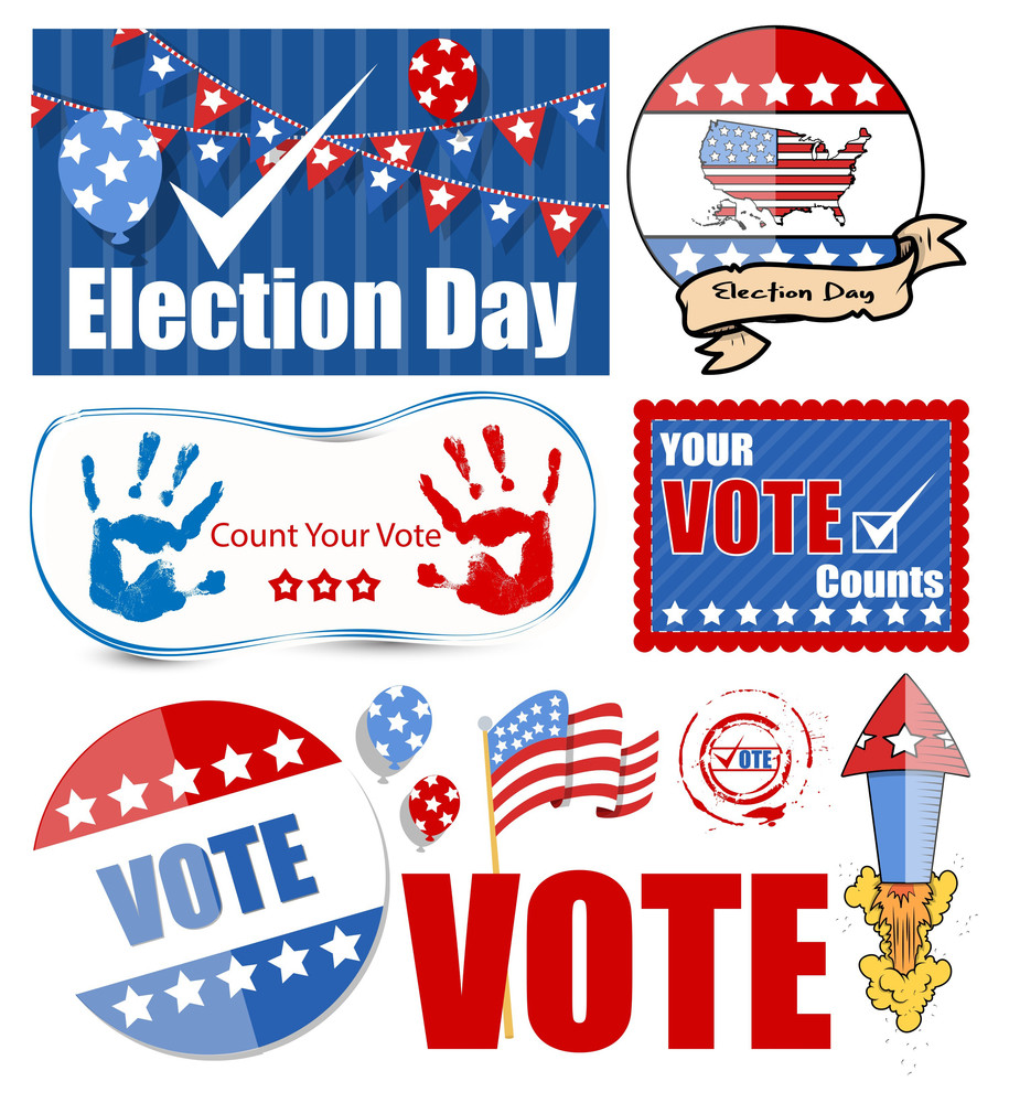 Usa Voting Day Designs Set