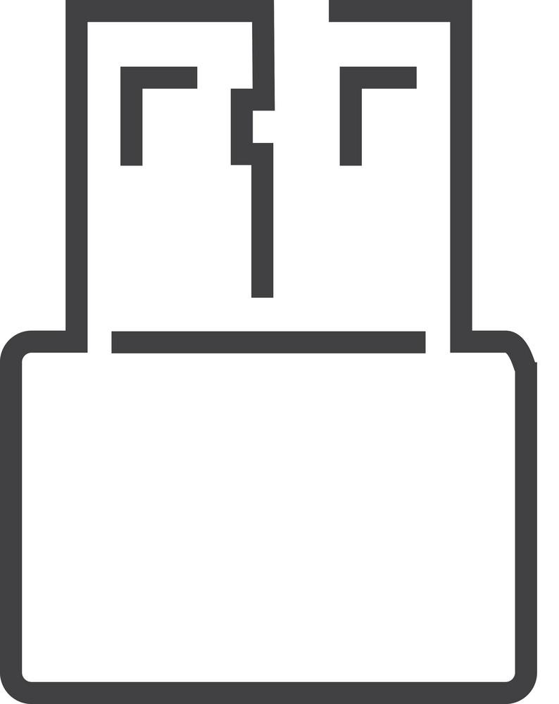 Usb 1 Minimal Icon