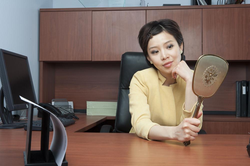 Vain businesswoman