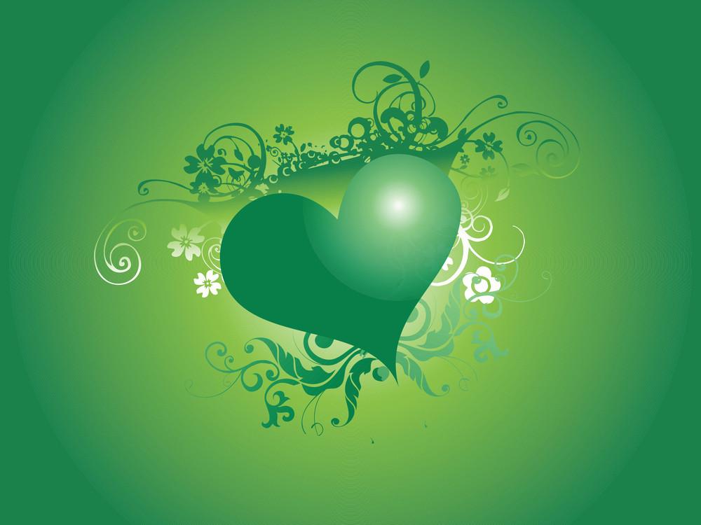 Valentine And Floral Design Elements