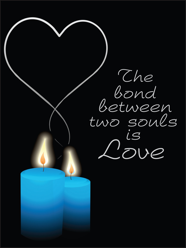 Valentine Background With Candle