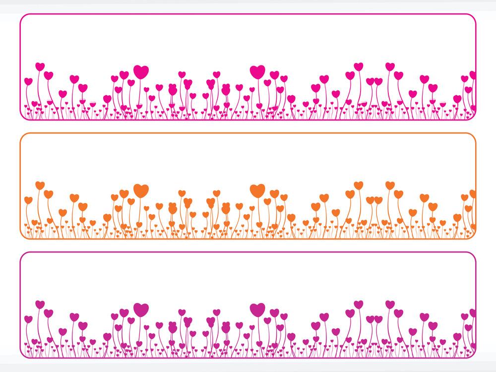 Valentine Banner Illustration