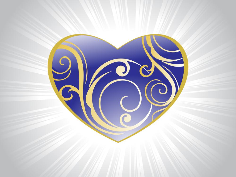 Valentine Card With Swirl Design