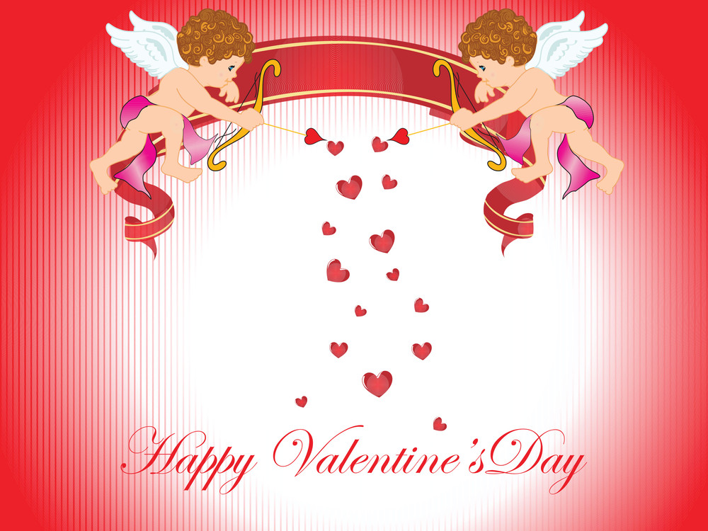 Valentine Day Card Illustration