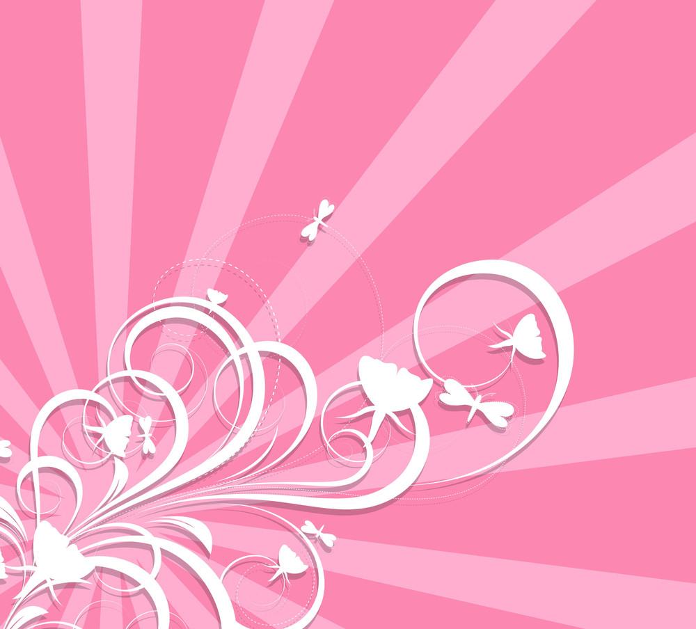 Valentine Flourish Background
