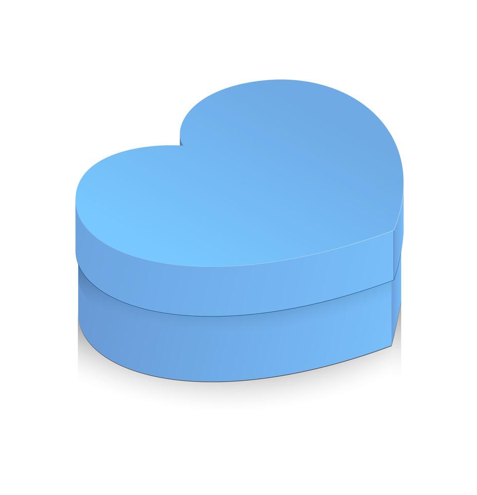 Valentine Heart Gift Box Vector
