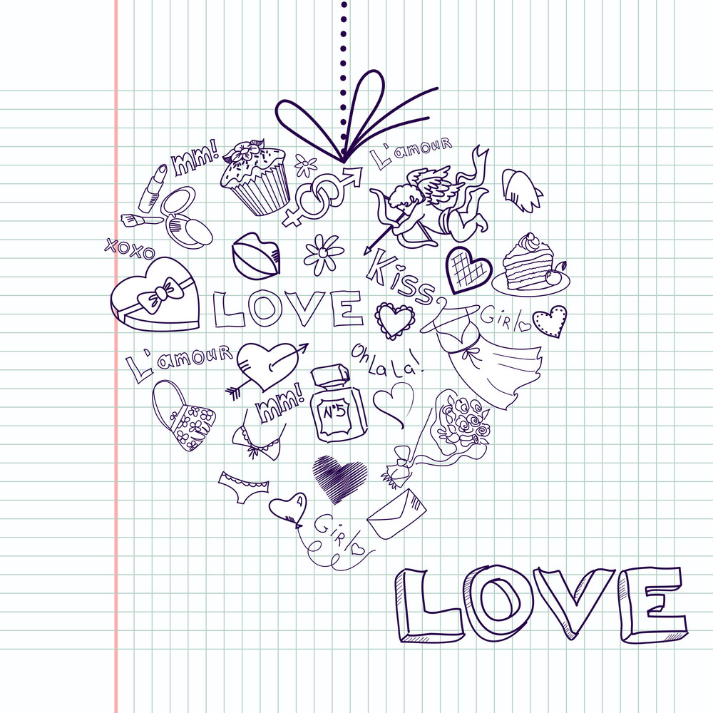 Valentine Heart Greeting Card. Vector-