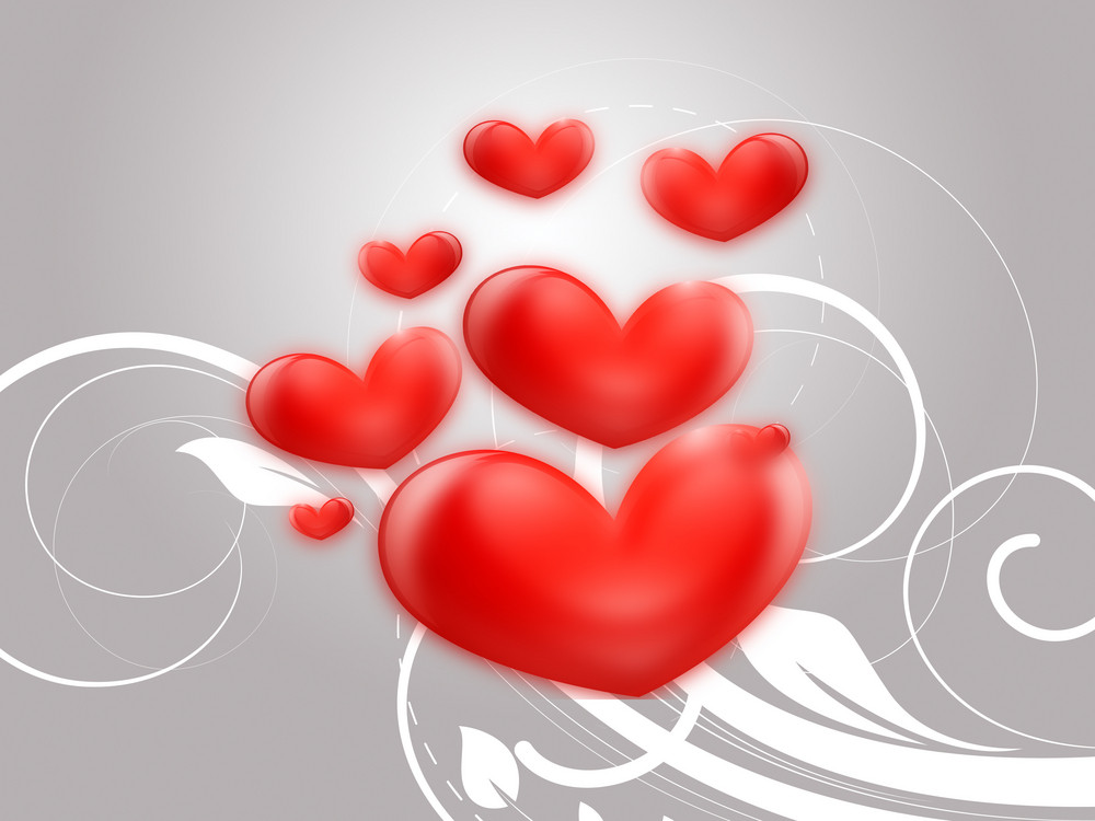 Valentine Hearts Background 228