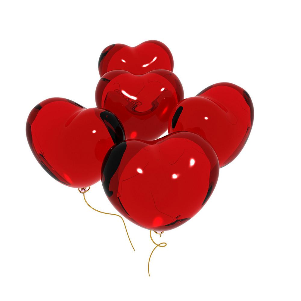 Valentine Hearts Balloons