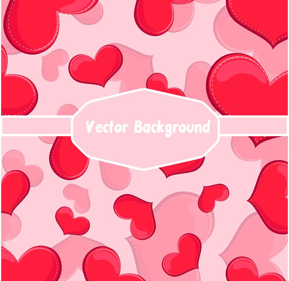 Valentine Hearts Greeting Banner