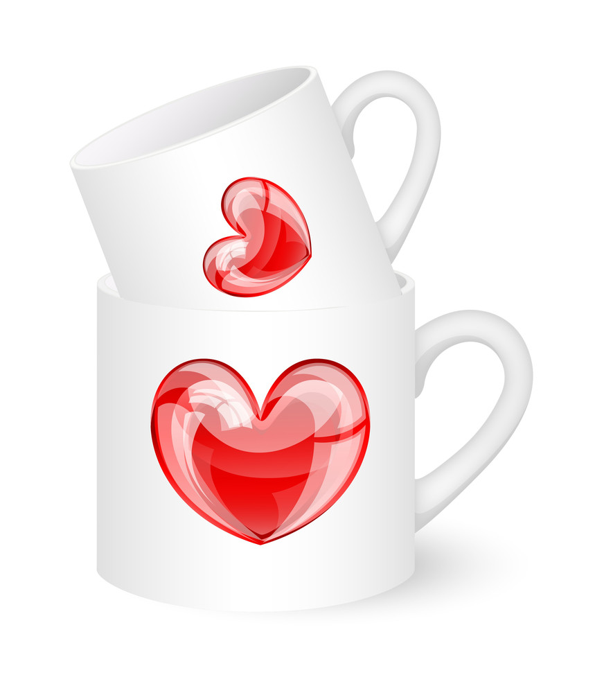 Valentine Love Hearts Cup
