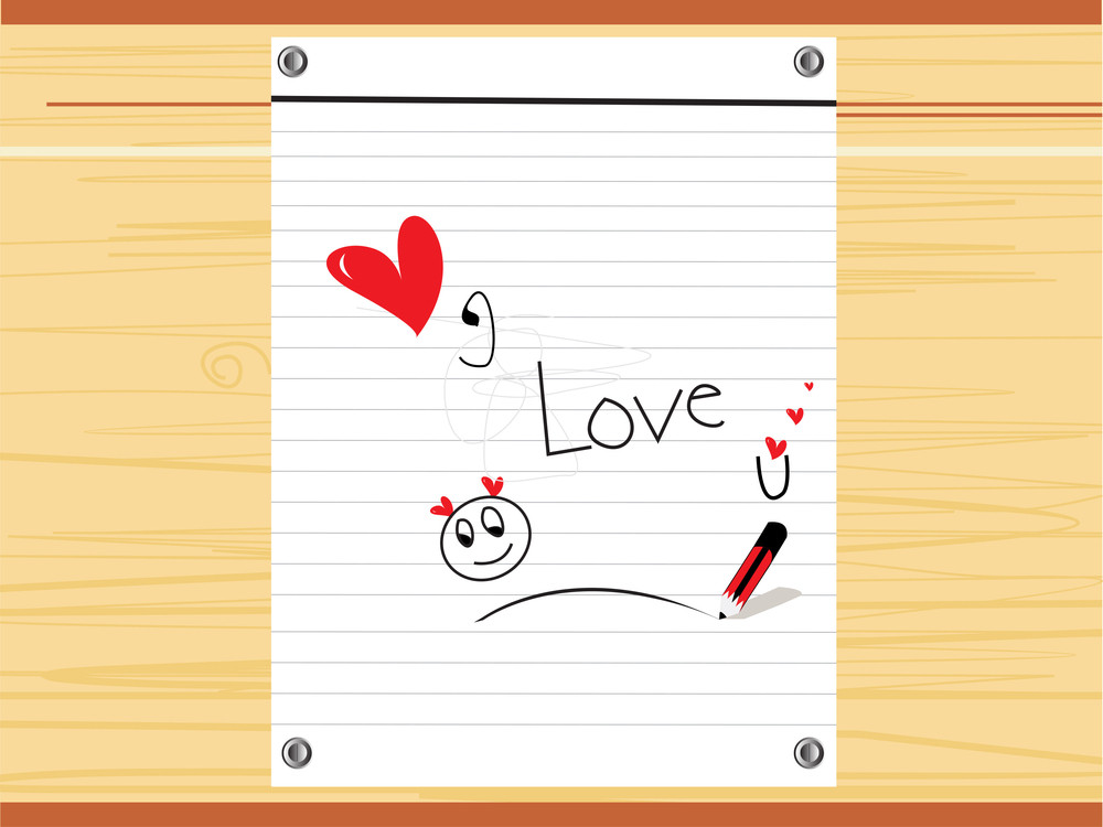 Valentine Notepad With I Love U