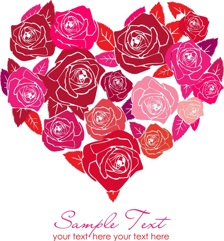 Valentine Rose Heart-