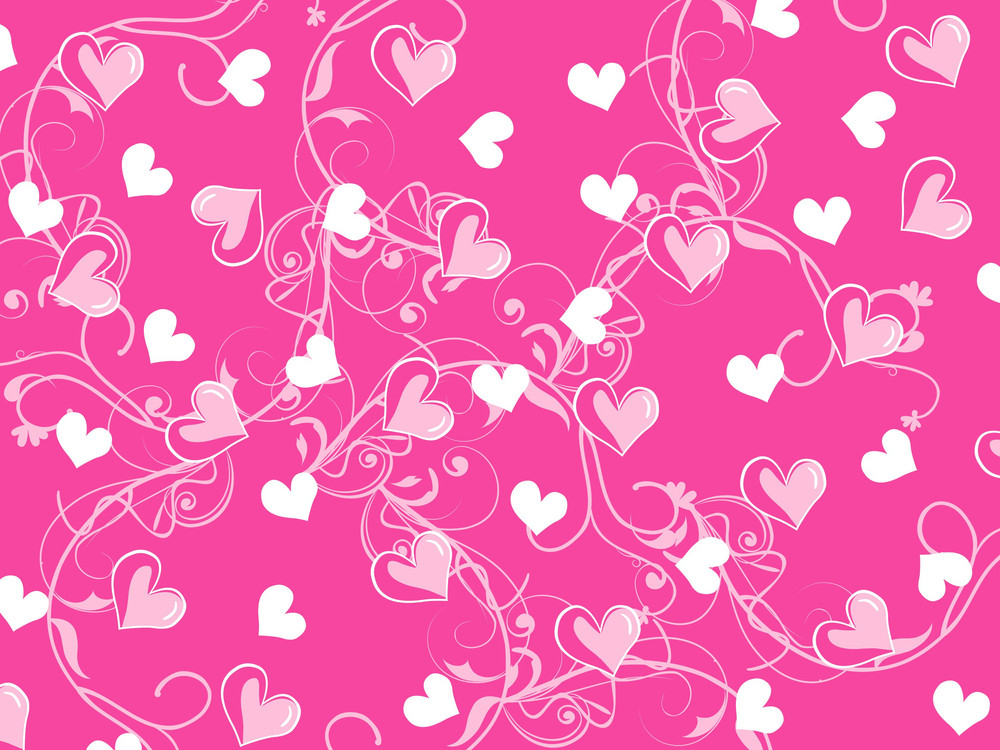 Valentine Seamless Background With Heart