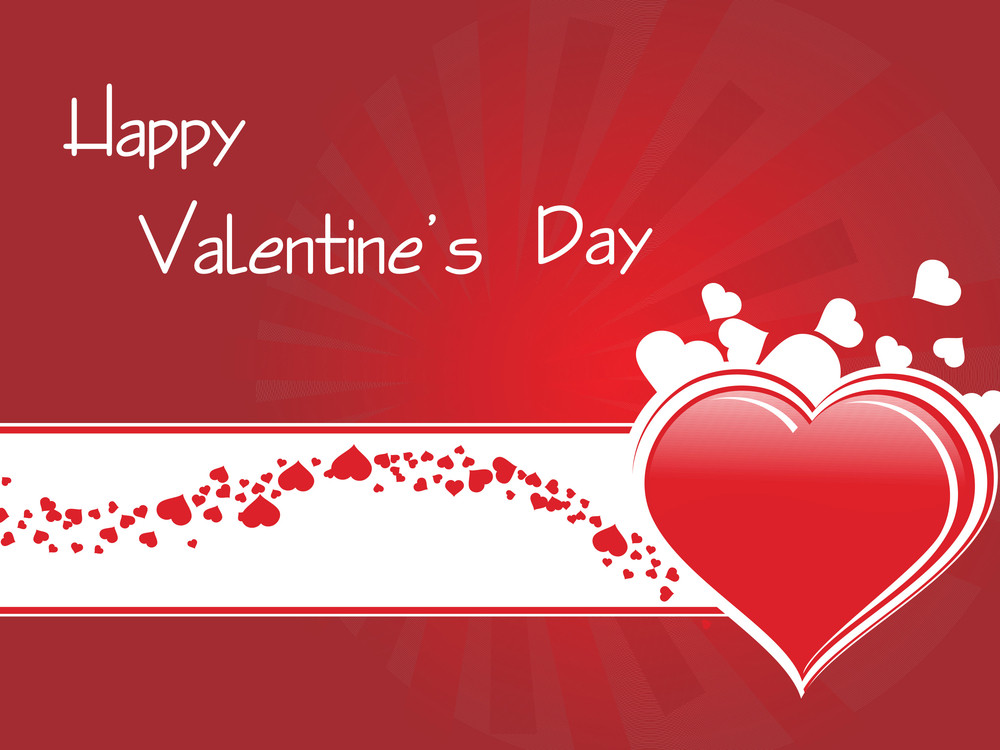Valentines Background With Floating Hearts