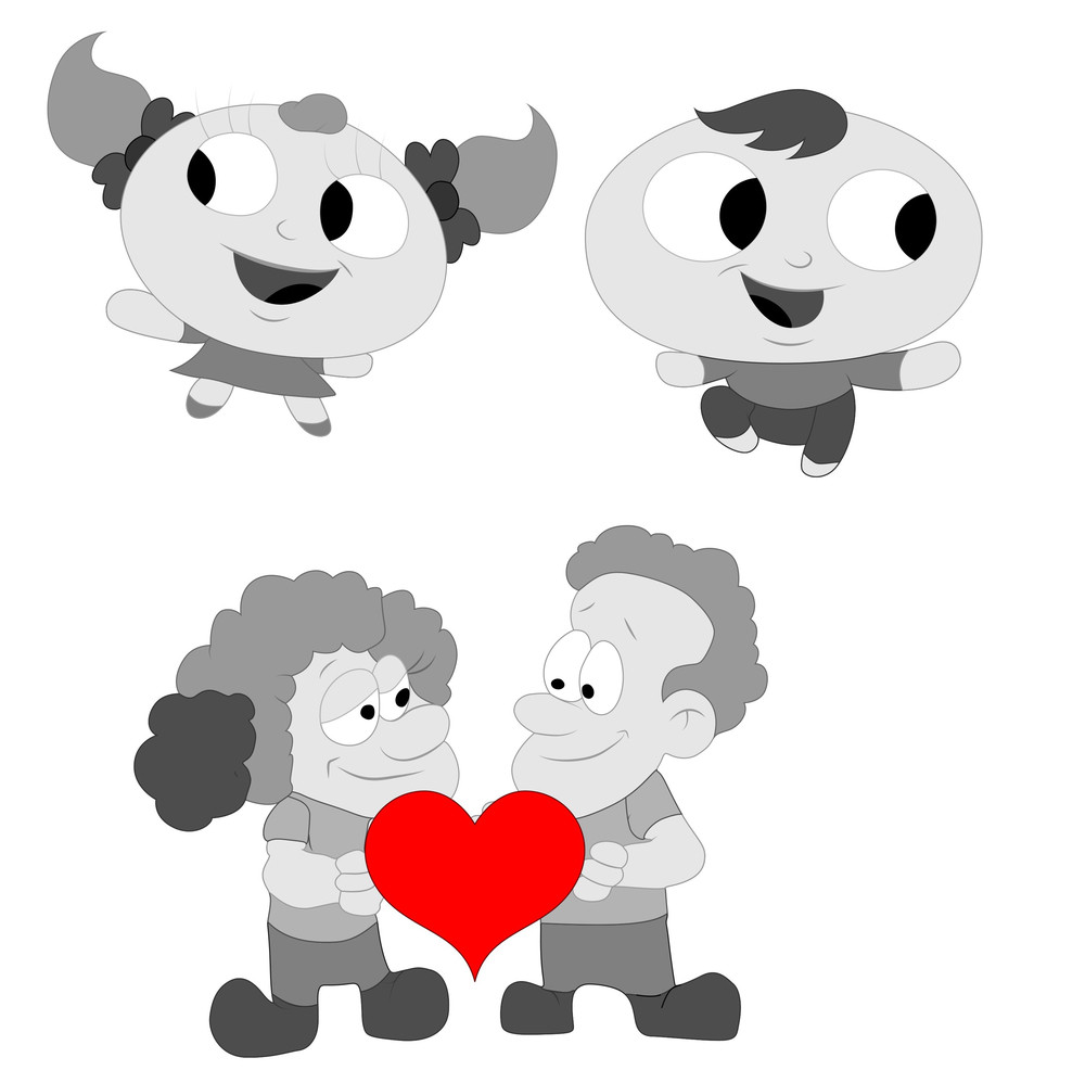 Valentines Cartoons Vectors