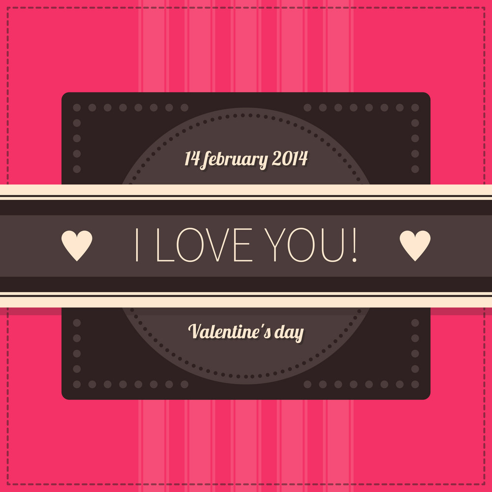 Valentine's Day Poster In Retro Style. Eps10