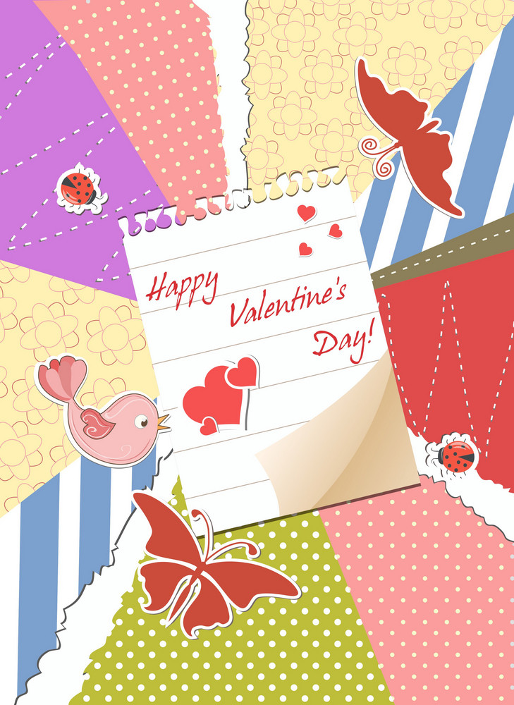 Valentine's Day Background Vector Illustration