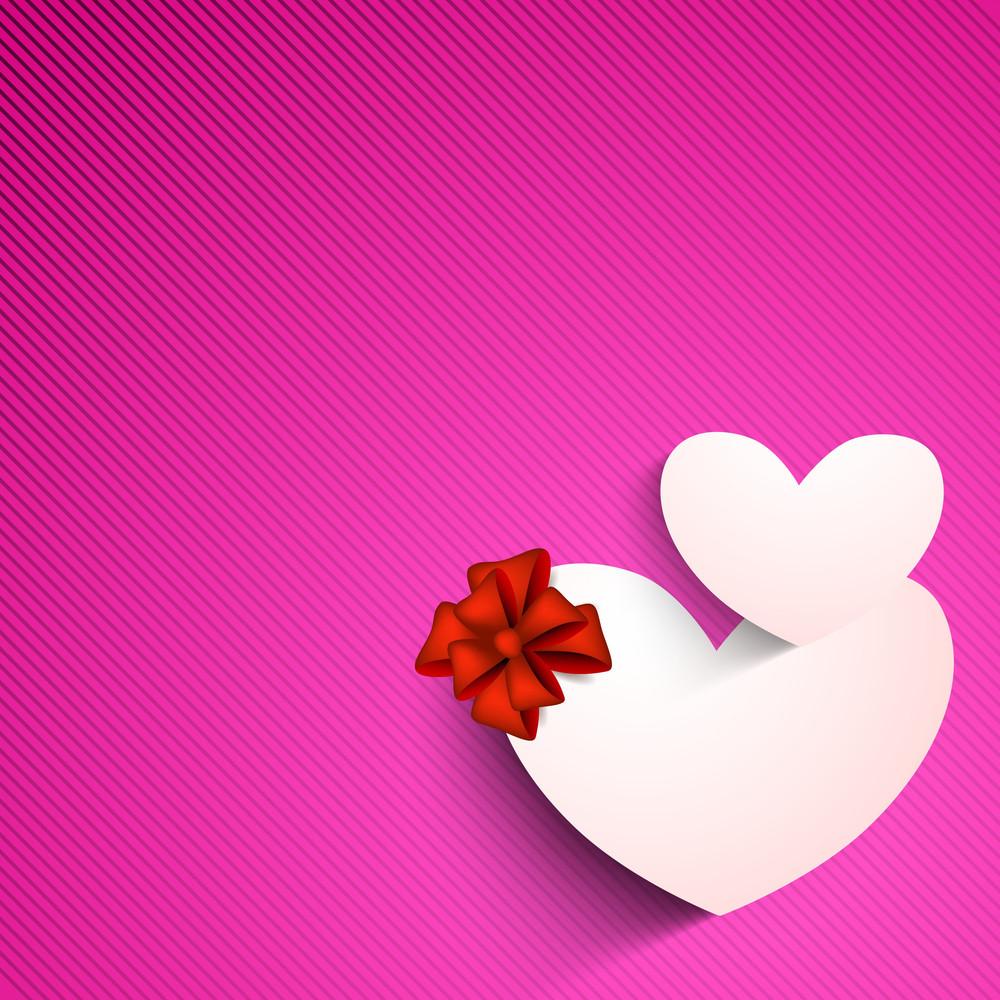 Valentines Day Background With Sticky