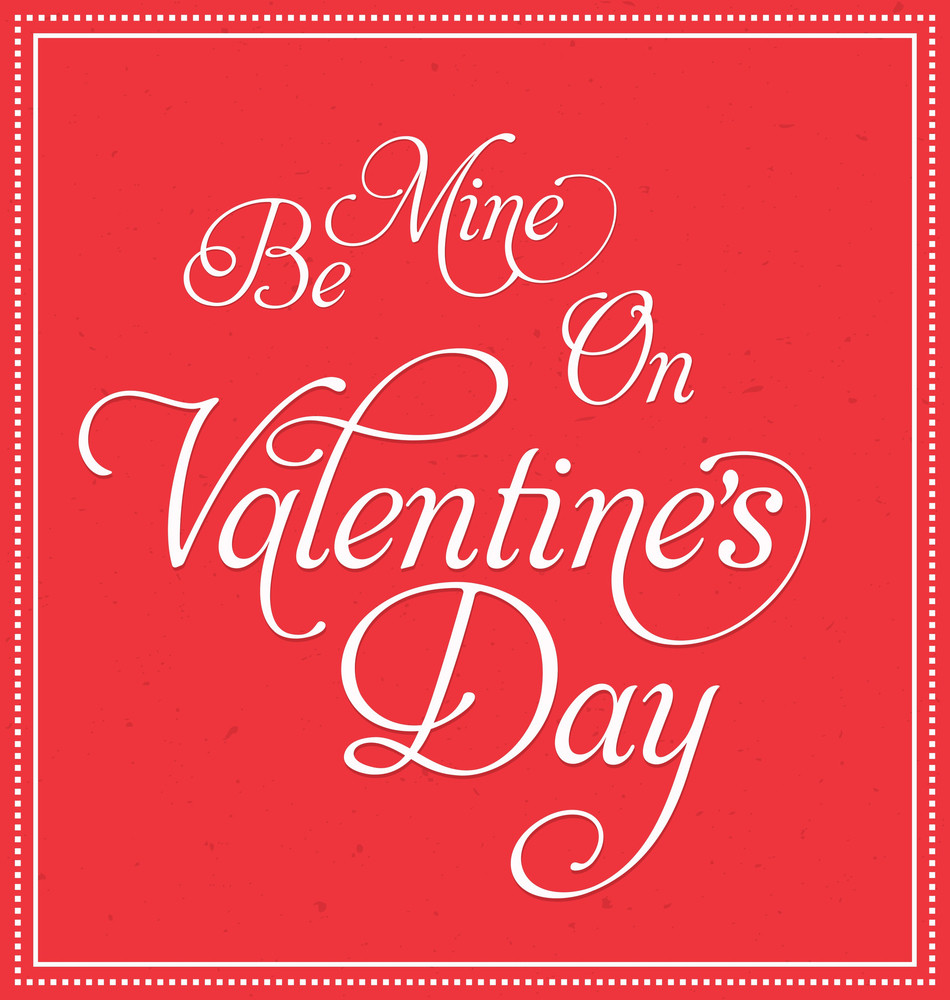 Valentine's Day - Calligraphic Text Elements