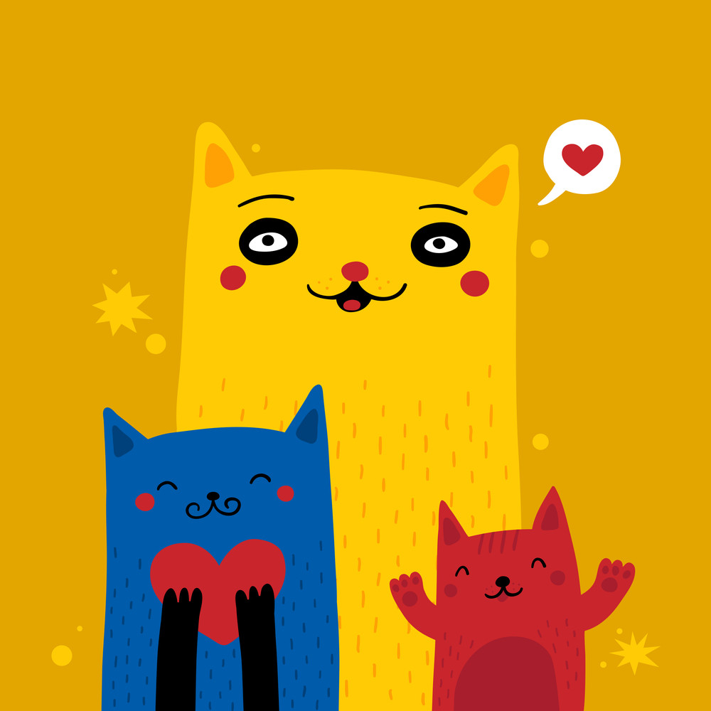 Valentine's Day Cats