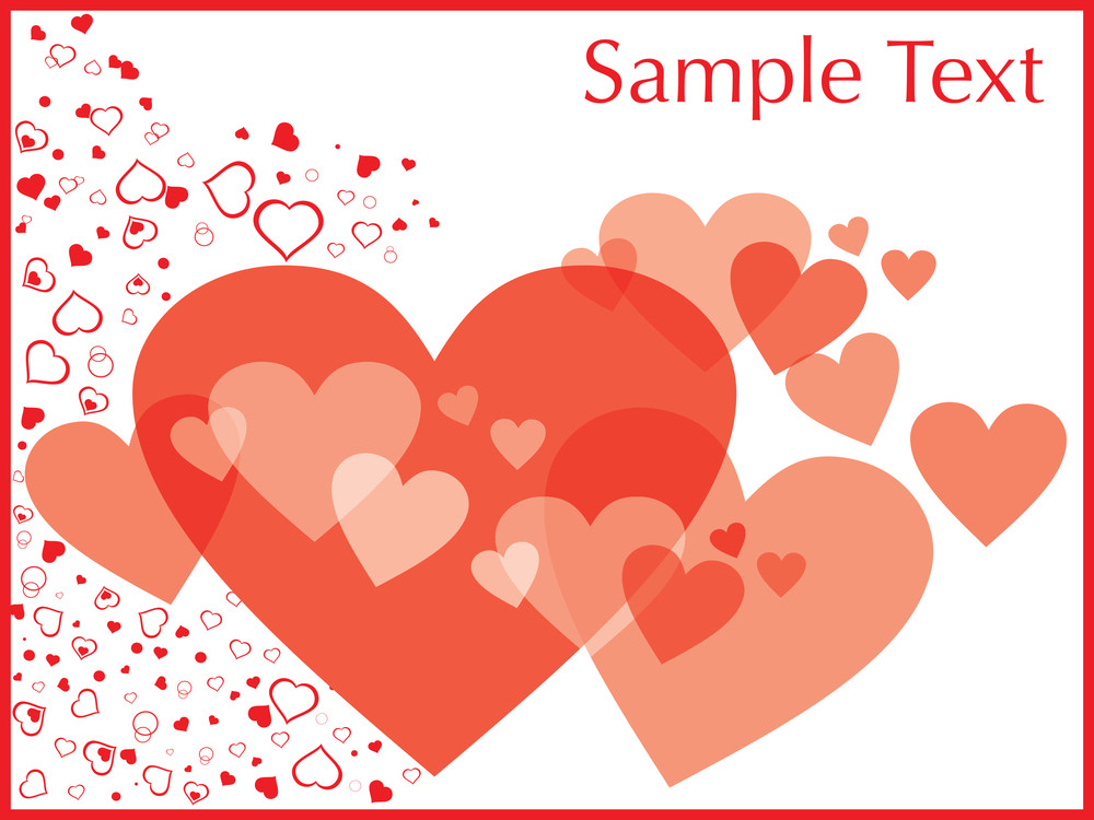Valentines Day Frame With Many Hearts Royalty-Free Stock Image ...