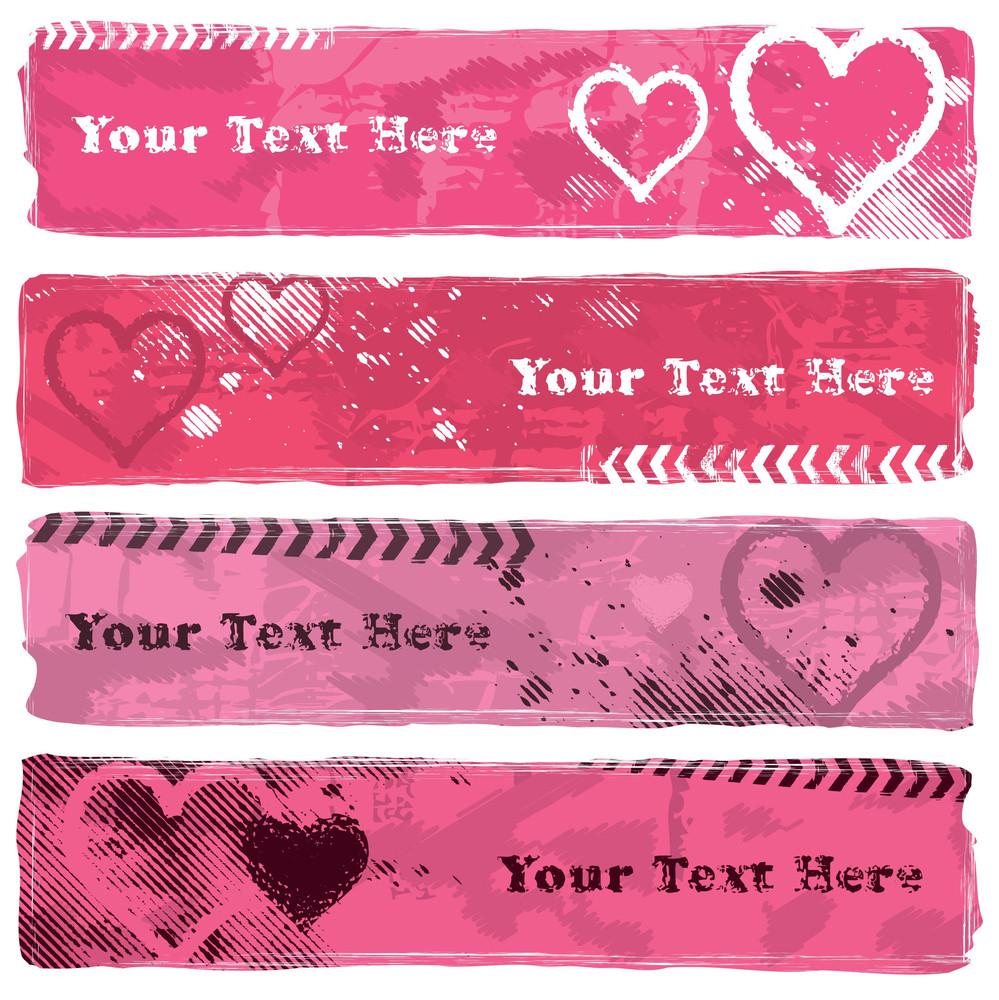Valentine's Day Grunge Banners