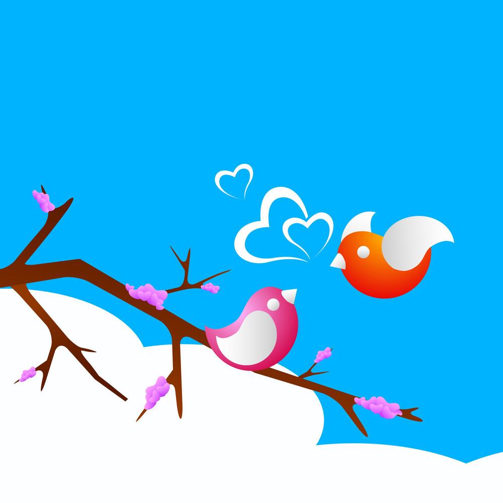 Valentines Day Love     With  Love Birds