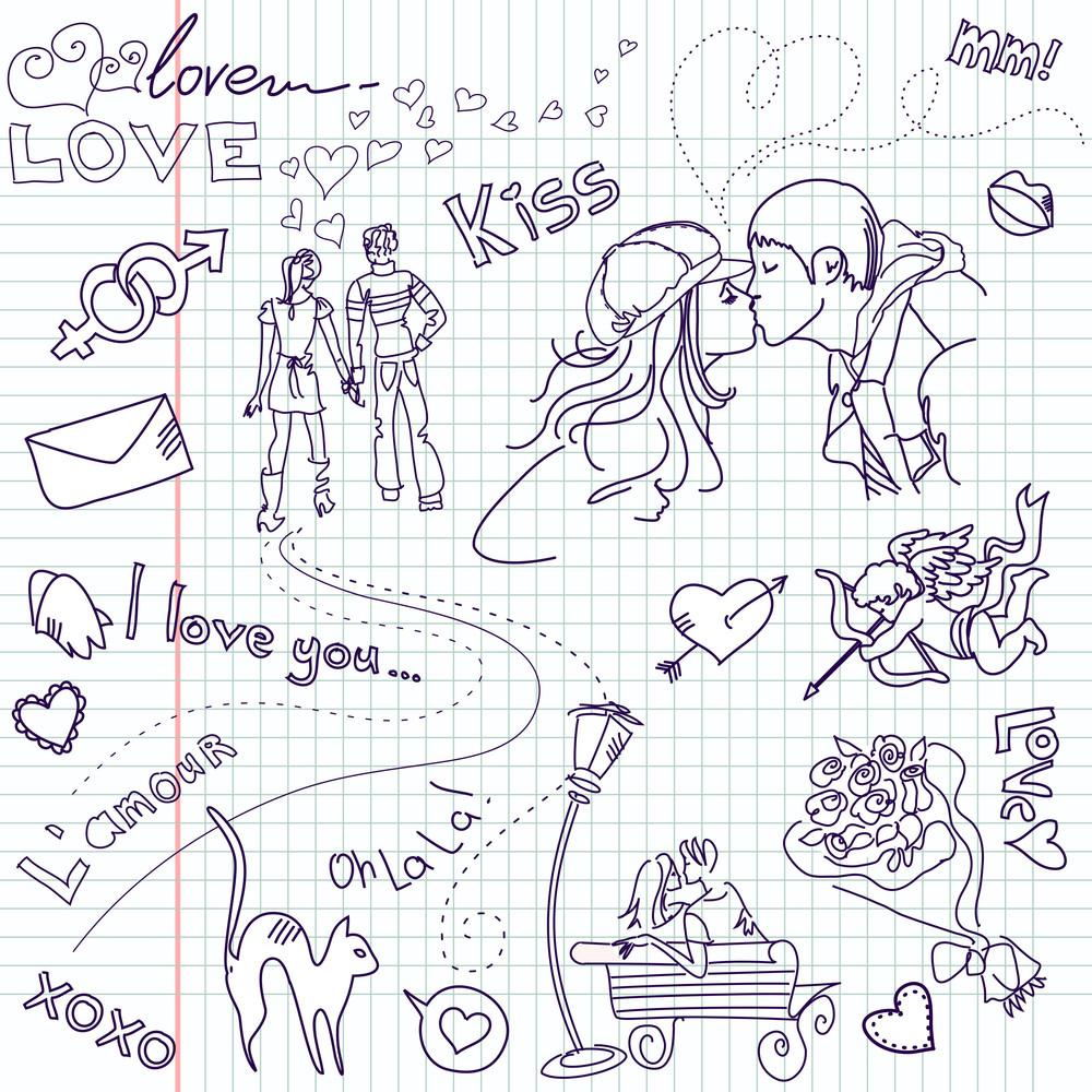 Valentine's Day Scrapbook Page--