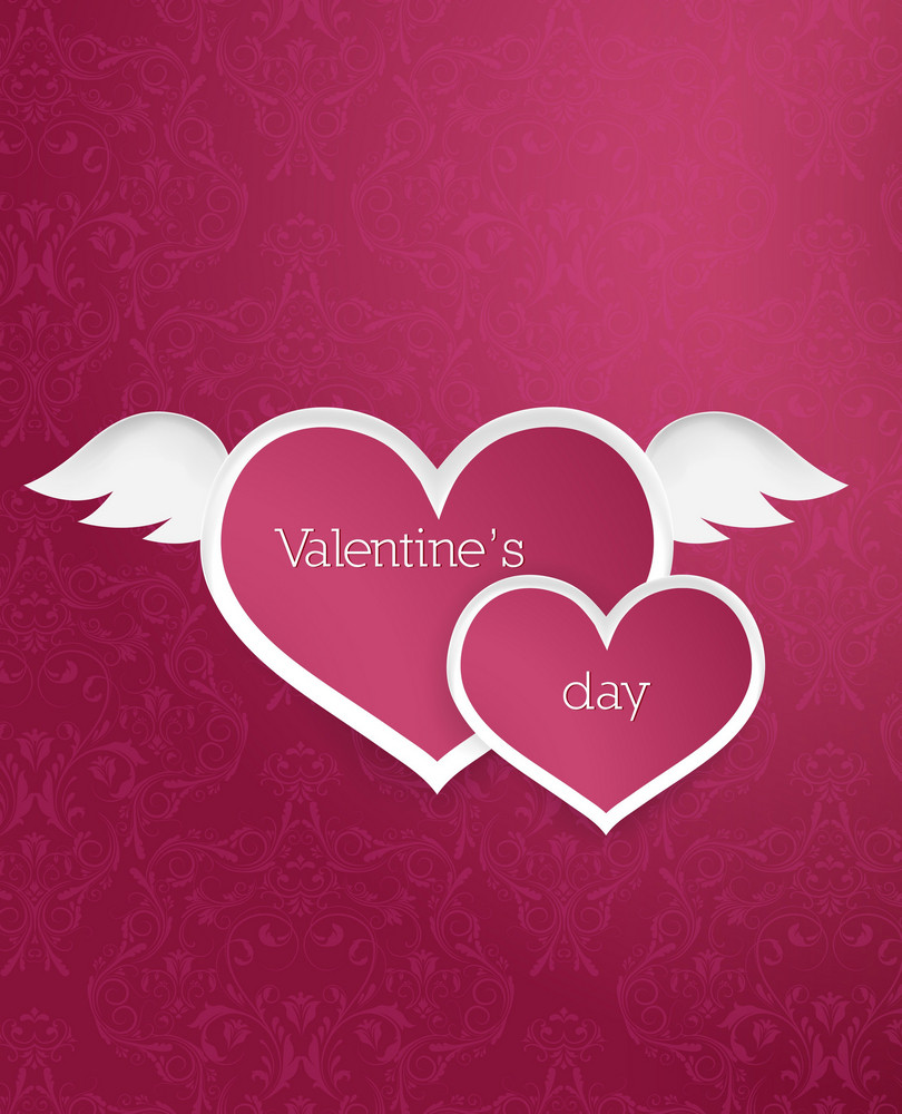 Valentine's Day Vector Illustration With Paper Hart
