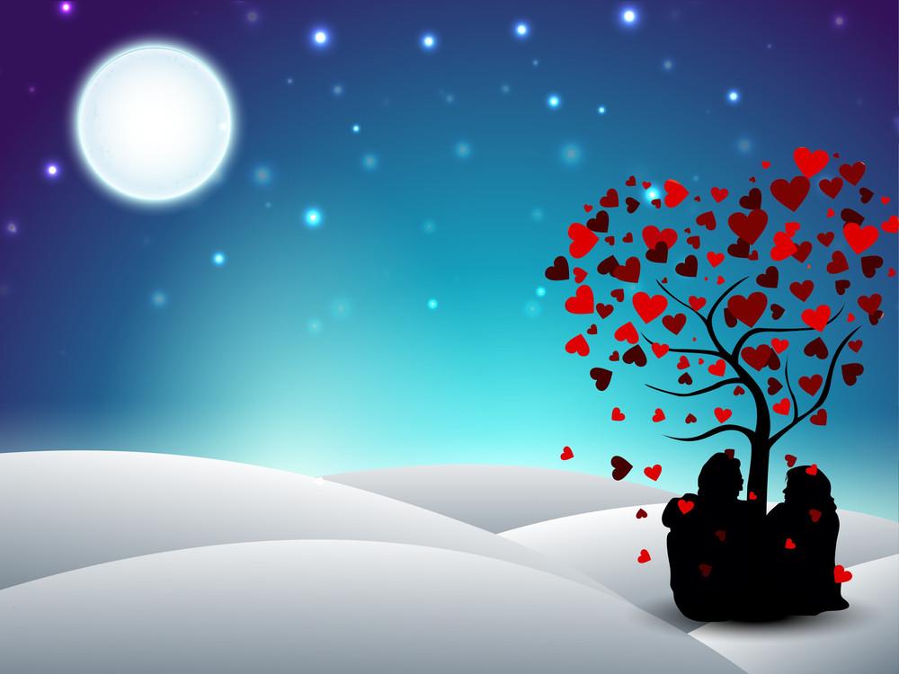 Valentines Day Winter Background